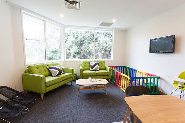 Waverley Private mother baby unit playroom